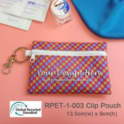 RPET-1-003  Recycled PET Clip Zipper Pouch