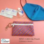 RPET-1-003  Recycled PET Clip Zipper Pouch
