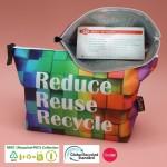 RPET-1-006-C   Recycled PET Zipper Bag (Custom Graphic)