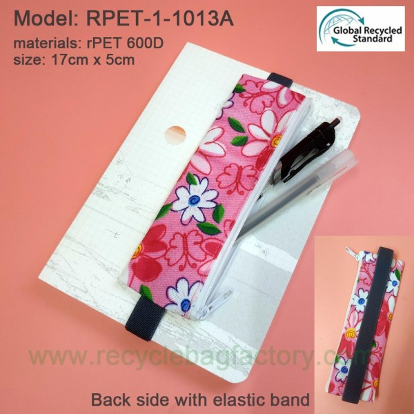 RPET-1-013ARecycled PET Zipper Bag with Elastic Band
