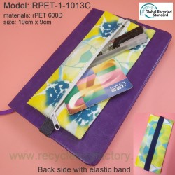 RPET-1-013C	Recycled PET Zipper Bag with Elastic Band