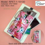 RPET-1-013DRecycled PET Zipper Bag with Elastic Band & front pocket