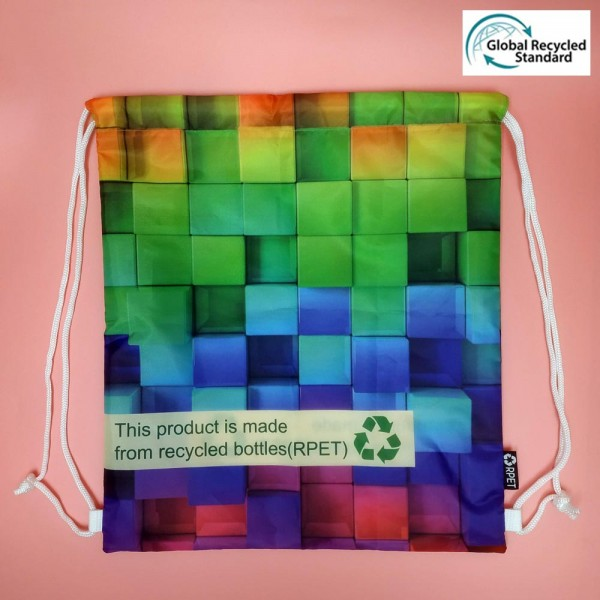 RPET-2-001  Recycled PET Drawing Backpack