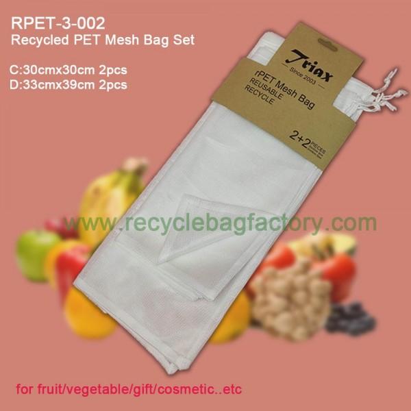 RPET-3-002  Recycled PET Mesh Bag Set