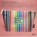 RPET-1-006    Recycled PET Zipper Bag(with Pattern)