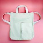Cotton 2-Way Tote Bag